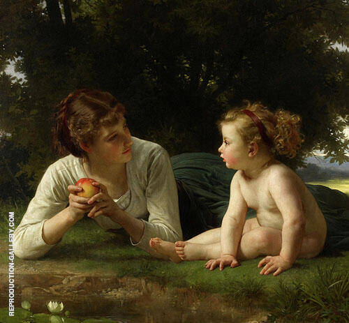 Temptation 1880 By William-Adolphe Bouguereau Replica Paintings on Canvas - Reproduction Gallery