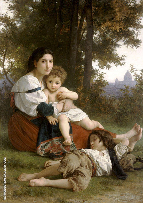 Rest 1879 Painting By William-Adolphe Bouguereau - Reproduction Gallery