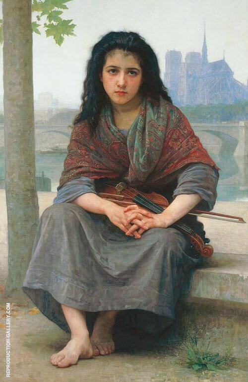 The Bohemian 1890 Painting By William-Adolphe Bouguereau
