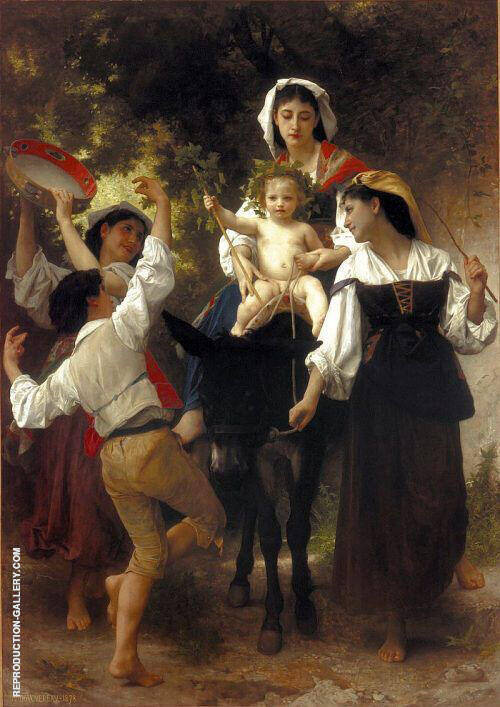 Return from the Harvest 1878 By William-Adolphe Bouguereau Replica Paintings on Canvas - Reproduction Gallery