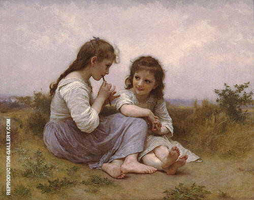 Childhood Idyll 1900 Painting By William-Adolphe Bouguereau