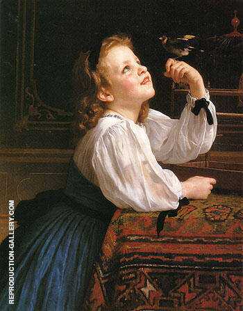The Pet Bird 1867 By William-Adolphe Bouguereau