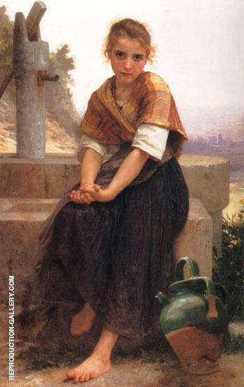 The Broken Pitcher 1891 By William-Adolphe Bouguereau