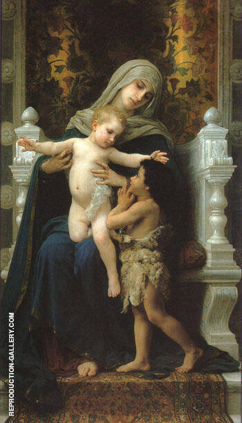 Madonna and Child with St John the Baptist 1882 By William-Adolphe Bouguereau