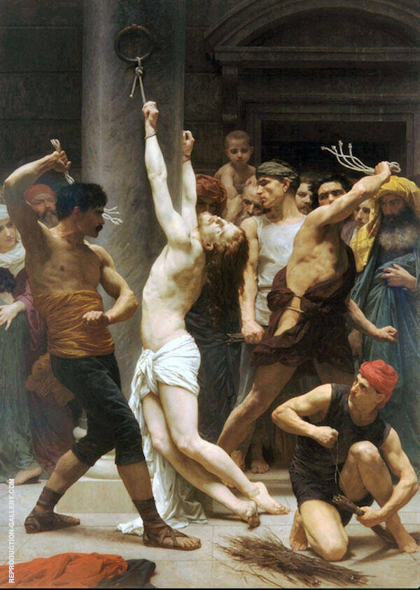 The Flagellation of Christ  1880 By William-Adolphe Bouguereau - Oil Paintings & Art Reproductions - Reproduction Gallery