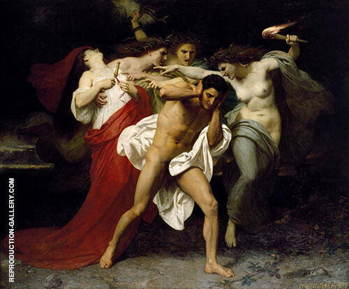 Orestes Pursued by the Furies 1862 By William-Adolphe Bouguereau Replica Paintings on Canvas - Reproduction Gallery