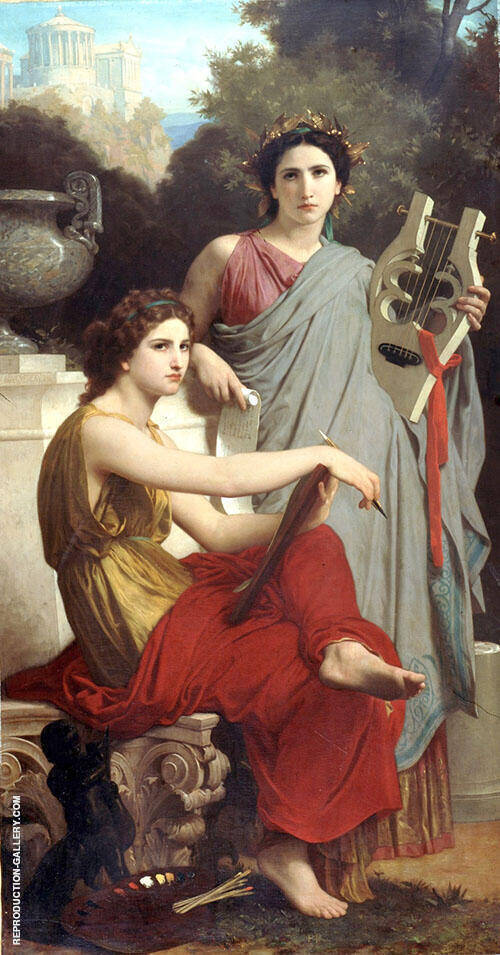 Reproduction of Art and Literature 1867 by William-Adolphe Bouguereau | Oil Painting Replica On CanvasReproduction Gallery