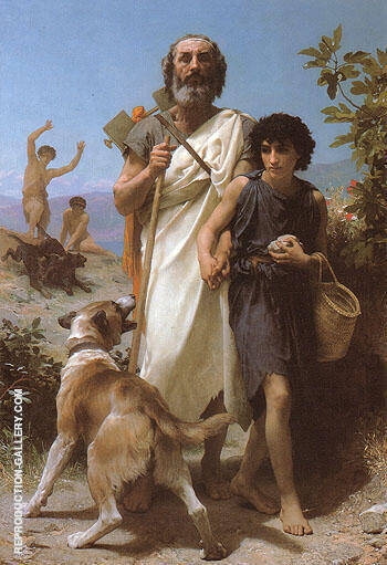 Homer and His Guide 1874 Painting By William-Adolphe Bouguereau