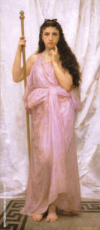 Reproduction of Young Priestess 1902 by William-Adolphe Bouguereau | Oil Painting Replica On CanvasReproduction Gallery