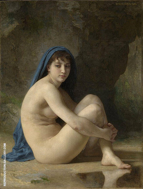 Seated Nude 1884 By William-Adolphe Bouguereau
