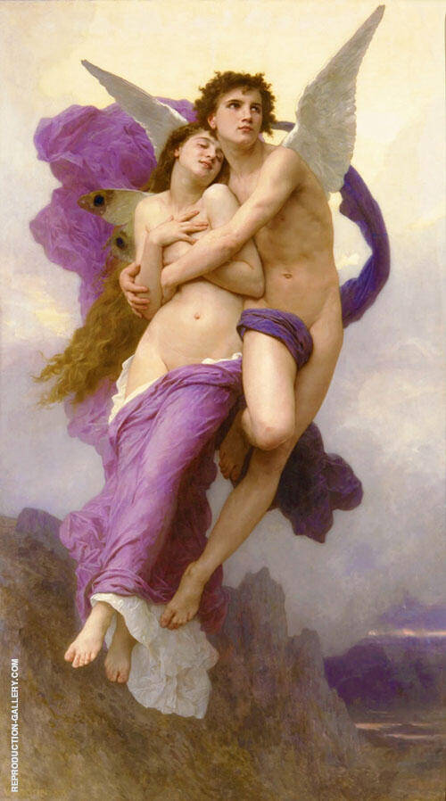 The Abduction of Psyche By William-Adolphe Bouguereau - Oil Paintings & Art Reproductions - Reproduction Gallery