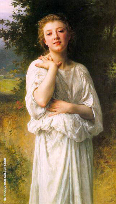 Girl 1895 Painting By William-Adolphe Bouguereau - Reproduction Gallery
