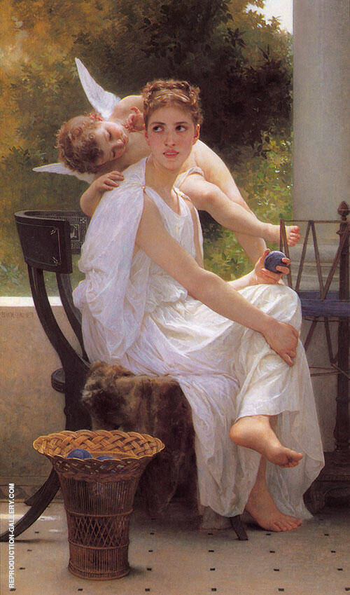 Work Interrupted 1891 By William-Adolphe Bouguereau