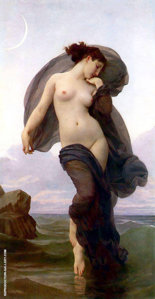 Evening or Evening Mood 1882 By William-Adolphe Bouguereau