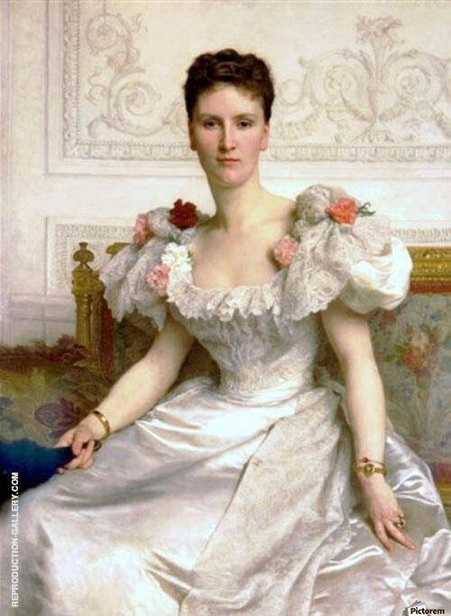 Reproduction of Portrait of Madame la Comtesse de Cambaceres 1895 by William-Adolphe Bouguereau | Oil Painting Replica On CanvasReproduction Gallery