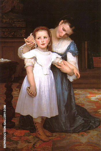 The Shell 1871 By William-Adolphe Bouguereau