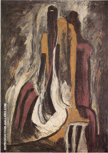 1937 8 A By Clyfford Still Replica Paintings on Canvas - Reproduction Gallery