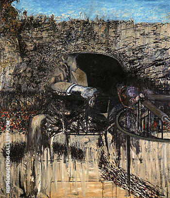 Figure in a Landscape 1945 By Francis Bacon Replica Paintings on Canvas - Reproduction Gallery