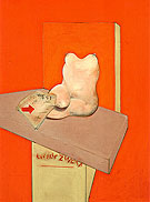 study of the Human Body form a Drawing by Ingres 1982 By Francis Bacon
