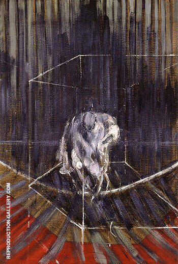 Untitled Crouching Nude 1950 By Francis Bacon Replica Paintings on Canvas - Reproduction Gallery