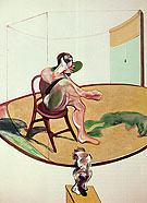 Two Studies of George Dyer with Dog 1968 By Francis Bacon
