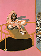 Study of a Nude with Figure in a Mirror By Francis Bacon