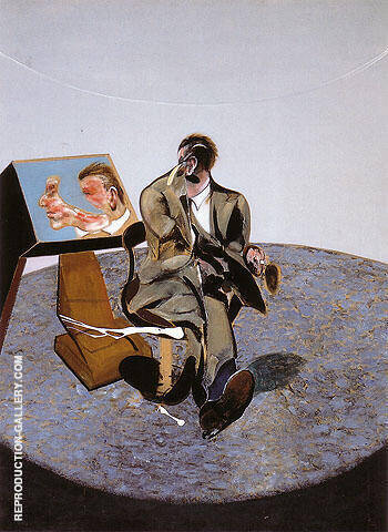 study of George Dyer in a Mirror 1968 By Francis Bacon Replica Paintings on Canvas - Reproduction Gallery