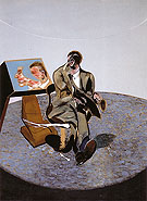 study of George Dyer in a Mirror 1968 By Francis Bacon