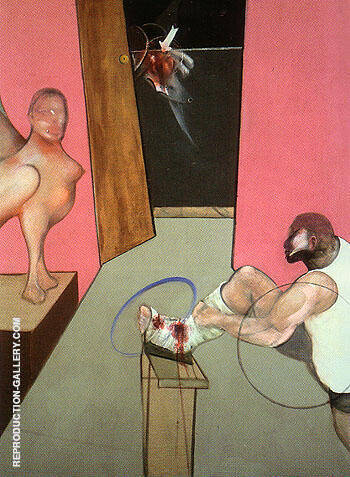 Oedipus and the Sphinx after Ingres 1983 By Francis Bacon Replica Paintings on Canvas - Reproduction Gallery