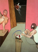 Oedipus and the Sphinx after Ingres 1983 By Francis Bacon