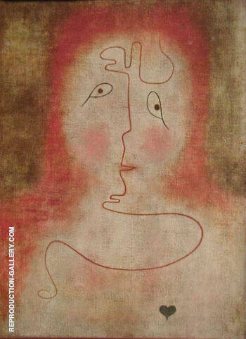 In the Magic Mirror 1934 By Paul Klee Replica Paintings on Canvas - Reproduction Gallery