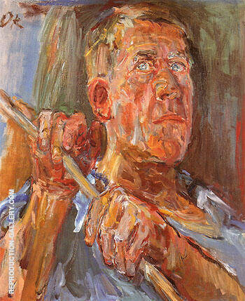 Self Portrait 1948 Painting By Oskar Kokoshka - Reproduction Gallery