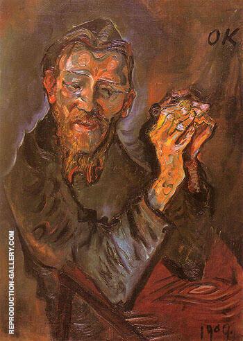 Felix Alberecht harta 1909 By Oskar Kokoschka