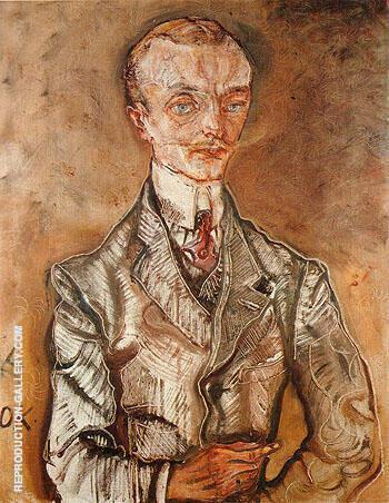 Reproduction of Joseph de Montesquiou fezensac 1910 by Oskar Kokoshka | Oil Painting Replica On CanvasReproduction Gallery