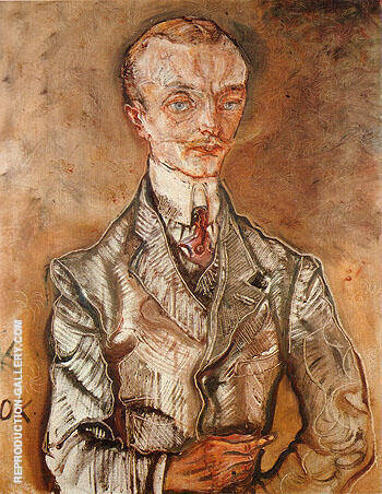 Joseph de Montesquiou fezensac 1910 By Oskar Kokoschka