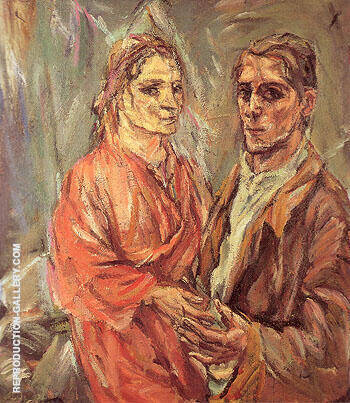 Reproduction of Double Portrait Kokoschka and Alma Mahler 1912 by Oskar Kokoshka | Oil Painting Replica On CanvasReproduction Gallery