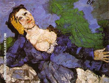 Woman in Blue 1919 By Oskar Kokoschka