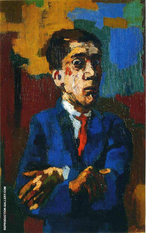 Self Portrait with Arms Crossed 1923 By Oskar Kokoschka