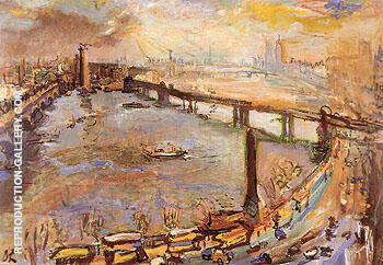 London Panorama of the Thames I 1926 By Oskar Kokoshka