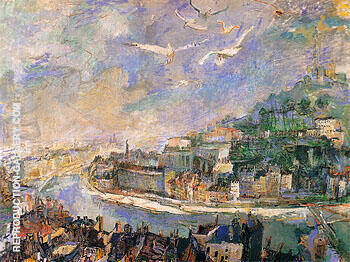 Lyon 1927 Painting By Oskar Kokoschka - Reproduction Gallery