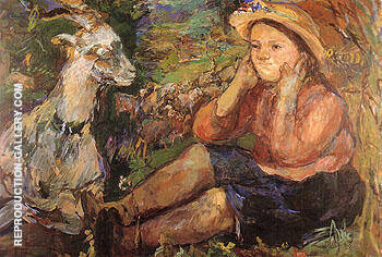 Pan Trudl with Goat 1931 By Oskar Kokoshka