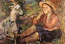 Pan Trudl with Goat 1931 By Oskar Kokoschka