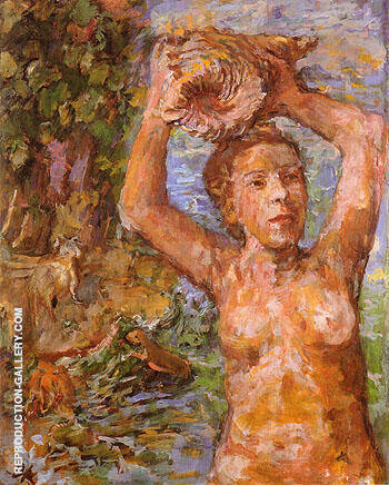Nymph 1936 Painting By Oskar Kokoschka - Reproduction Gallery