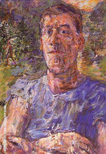 Self Portrait of a Degenerate Artist 1937 Painting By Oskar Kokoshka