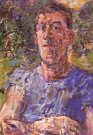 Self Portrait of a Degenerate Artist 1937 By Oskar Kokoschka