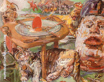 The Red Egg 1940 41 Painting By Oskar Kokoschka - Reproduction Gallery