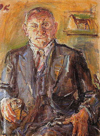 Louis Krohnberg 1950 Painting By Oskar Kokoschka - Reproduction Gallery