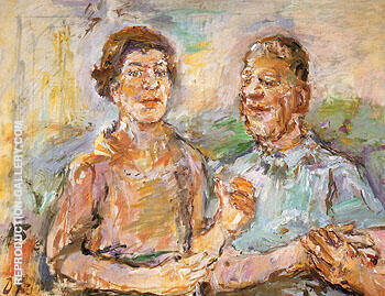 Self Portrait with Olda 1966 Painting By Oskar Kokoschka