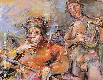 Saul and David 1966 By Oskar Kokoshka