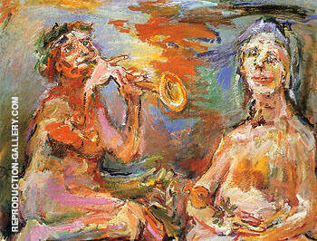 Morning and Afternoon The Power of Music II 1966 By Oskar Kokoshka